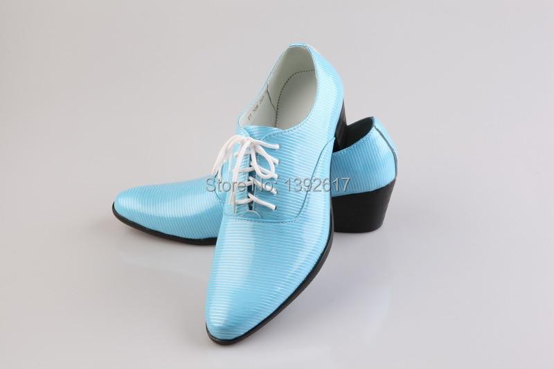Free ship mens tuxedo shoes/sky blue