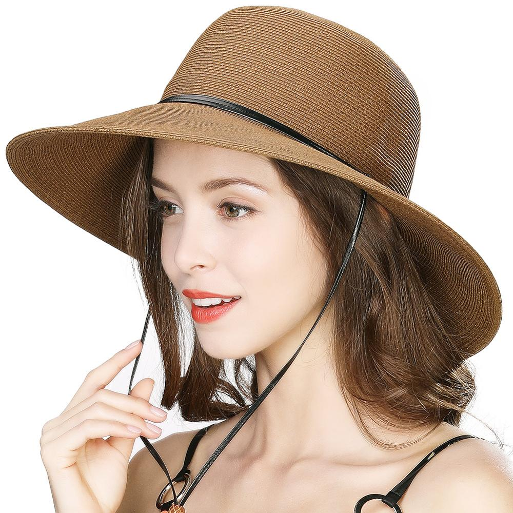 Children Straw Hat Panama Style Crushable Sun Hat for 5-8 Years Old Casual Beach Hat Women Sunscreen Hat Fishing Hat