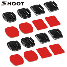 SHOOT 4pcs Flat and Curved Base Mount 3M VHB Stickers For Go Pro Hero 5 3 4 Session Xiaomi Yi 4K Kit SJ4000 Gopro Accessory Set