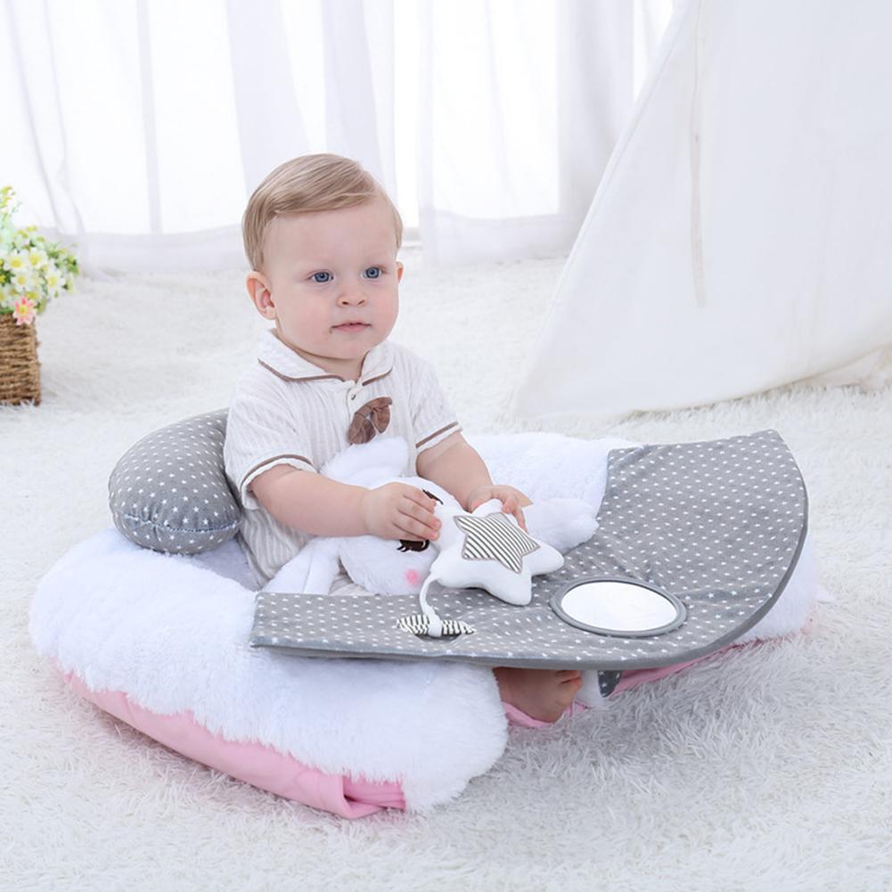 Nouveau dessin animé lapin blanc siège bébé en peluche bébé apprendre à s'asseoir dans la chaise bébé tôt apprendre à s'asseoir sur le canapé garde d'enfants