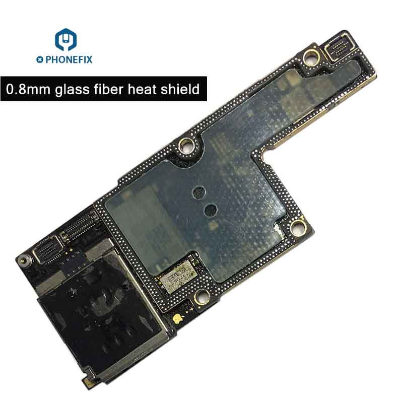 PHONEFIX 0.8mm Insulated Glass Fiber Heat Shield Dedicated For IPhone X PCB Motherboard Repair IC Chip Protector Panel No Damage