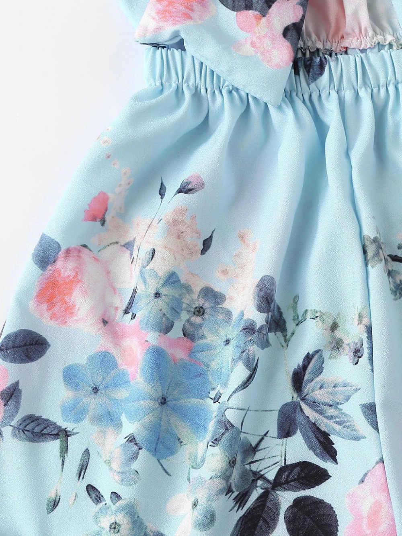 Мода 2019 для женщин сексуальный короткий комбинезон галстук спереди комбинезон с цветочным принтом спинки в полоску без рукавов с v-образным вырезом короткий комбинезон 3Y05