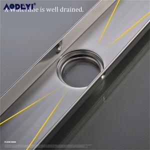Image 5 - AODEYI 304 вставка для плитки из нержавеющей стали 60 см Прямоугольный линейный анти запах Слив для пола оборудование для ванной комнаты Невидимый душ 11 208