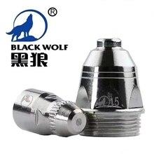 Yüksek kaliteli P80 invertör plazma kesici kesme tabancası sarf malzemesi siyah kurt aksesuarları memesi İpuçları elektrot CNC 100PK