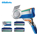 5-Blade! 4pcs/lot Hight Quality Razor Blades,The Best for Men Shaving Face Care FS4