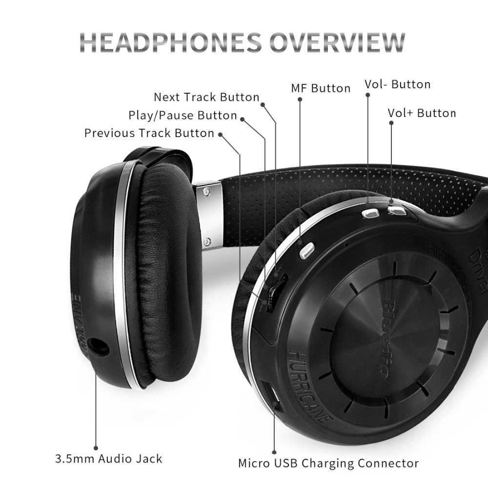 4 Bluetooth Wireless Headsets With The Best Sound Quality: Bluedio T2S(Shooting Brake) Bluetooth Stereo Headphones