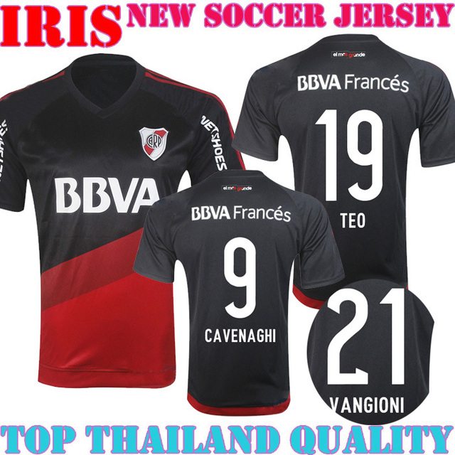 new 15 16 River Plate jersey soccer Home Away black red BALANTA CAVENAGHI R  MORA shirt 2015 2016 River Plate Jerseys free ship 5b3a27182