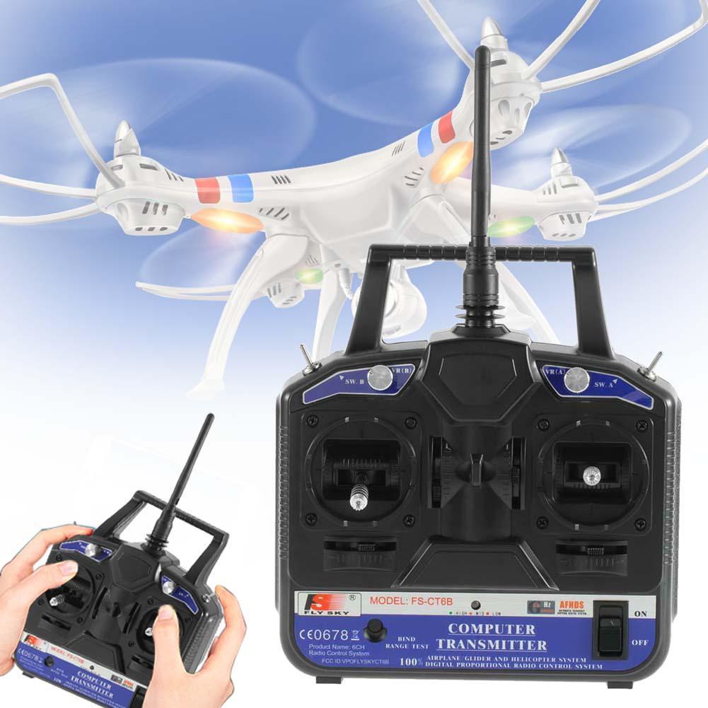 Original 2 4GHz FS CT6B 6 CH Channel Radio Model RC Transmitter Receiver Control