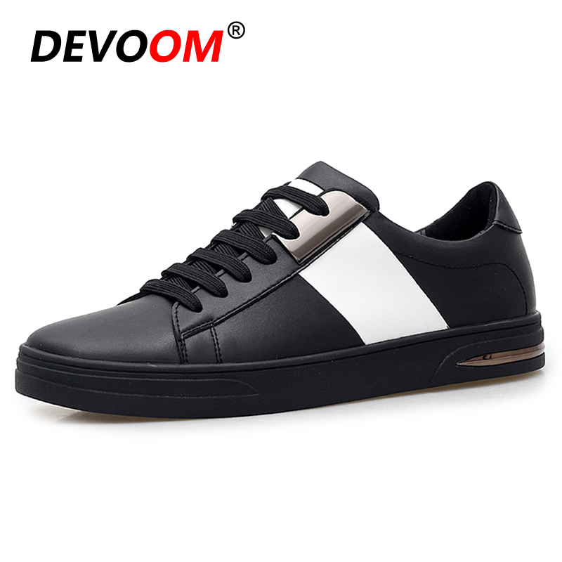 e7cde85b0a784d New Fashion Men s Leisure Shoes 2018 Spring Casual Shoes Men Designer White+Black  Shoes Microfiber Leather Male Footwear Zapatos-in Men s Casual Shoes from  ...
