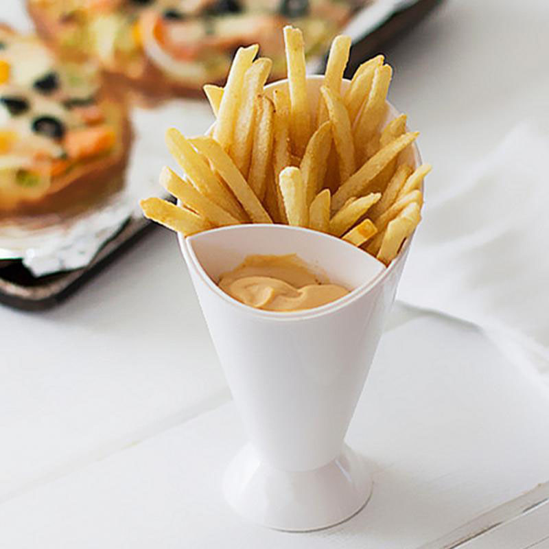 Фри конуса провала контейнер картофельный салат погружения Кубок Кухня многоцелевой инструмент блюда и тарелки Пластик