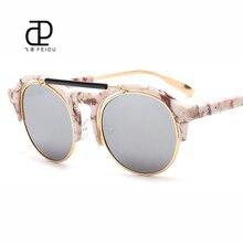 Feidu 2016 Classic Steampunk Gafas De Sol mujer diseñador De la marca recubrimiento Gafas De Sol De espejo para Unisex Gafas Gafas De Sol