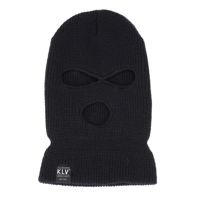 Full Face Cover 3 Holes Balaclava Knit Hat Winter Stretch Snow Mask Beanie Hat Cap Windproof Warm Breathable Masks for Riding 1