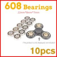 10Pcs 608 Bearing For Metal Led Light Glow In Dark Batman Game Aluminium Figit Tri Dpinner
