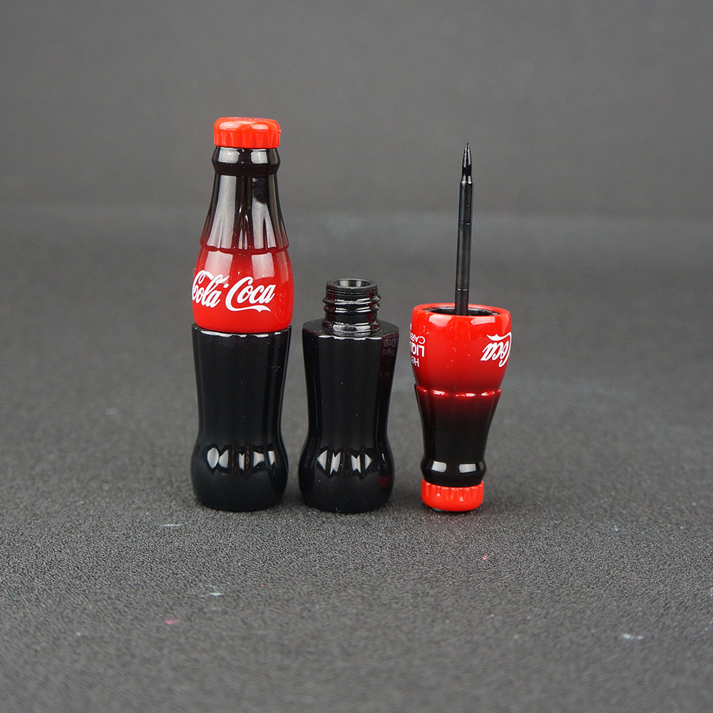 New fashion Cosmetic Cola Style Waterproof Eyeliner Liquid Type Makeup Eye liner Long Last Black Eyeliner