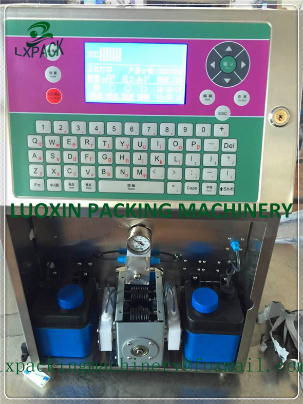 US $899 0 |LX PACK Lowest Factory Price eggs printing hand jet printer bar  code software equipment marking cosmetic labeling food labeling-in Power
