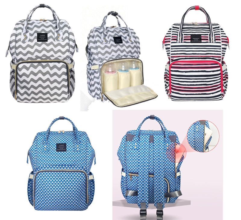 Fashion Mummy  Baby Diaper Bag Maternity Nappy Bags Travel Backpack Large Capacity Baby Changing Bag 5 in 1 diaper bag set baby changing maternity infant stuff storage tote nappy bags mummy storage bags fashion baby stroller bags