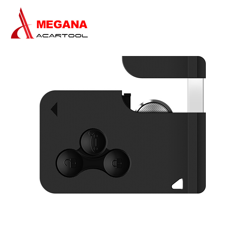 Free shipping Renault 3 Button Smart Key 433MHZ renault megane key card for renault megan with Insert Small key chip free ship brand new high quality remote key keyless alarm 2 button for renault laguna smart card with insert small key blade 434mhz