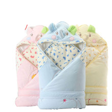 100×100 cm Cobertor Do Bebê Inverno Quente Envelope forro Removível + Babadores para bebês Recém-nascidos Swaddle Tecido de Algodão Mais Grosso Macio Saco de dormir