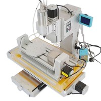 Pillar Mini 3040 5 Axis 1500W CNC Milling Router for Wood PCB Metal Carving Machine