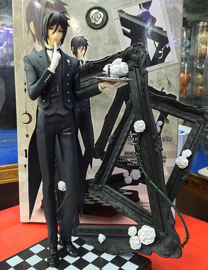 25cm Black Butler Book Of Circus Sebastian Michaelis PVC Action Figure Collectible Model Toy neca planet of the apes gorilla soldier pvc action figure collectible toy 8 20cm
