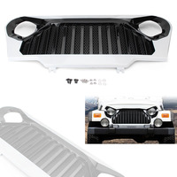 Front Gladiator Grill Grille w/ Mesh for 1997 2006 Jeep Wrangler TJ Automobile Spare Parts Accessories White + Matte Black