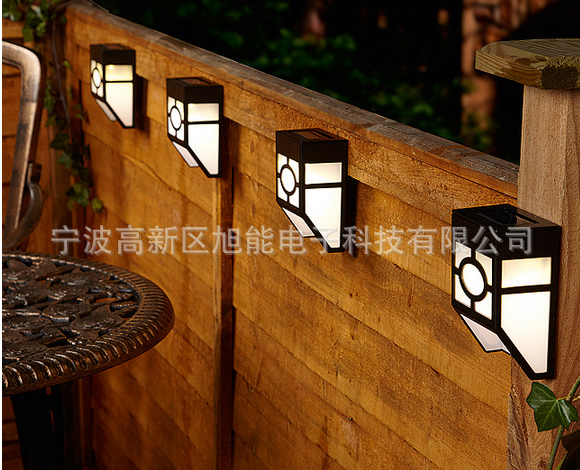 Aliexpress Garden Decoration Lighting Fence Lights Solar Led Corridor Wall Light Panel 2colors 4pieces Lot Free Shipping From