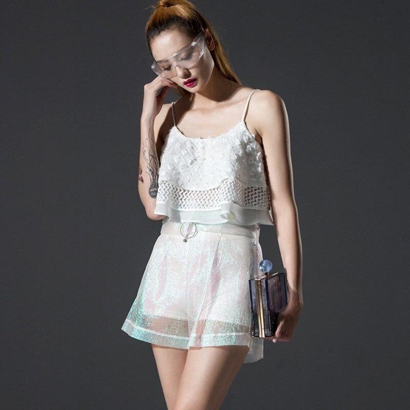 Femmes Mode Colour Nouvelle 2018 Pantalons De Les Sur Azu12111s D'été Creux Sexy Polyester Pantalon Courts Mesure ewq Pink Pour 7nRq1xx
