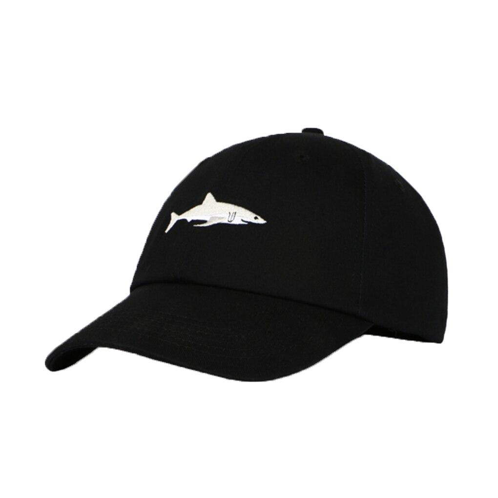 2018 Newest Design Cotton Shark Baseball Cap Men Women Embroidery Hat Boy Girls Baseball Hat mens vintage beret hat sailing embroidery washed cotton paper boy cap