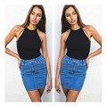 Negro Coreano Ropa De Ucrania Recortada Top Mujeres Bralette Lencería Bustier 2016 Sexy Camisola Blusa Tee Crop Harajuku Tanques Camis