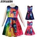 Girls Summer Dress Trolls Print Festive Dresses Prom Dresses Fancy Clothes Kids Cartoon Children Party Dress For Girls 10 Years