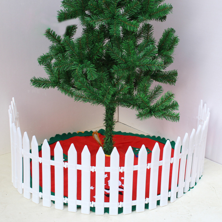 Free Shipping 5pcs Pointed Plastic Fence Garden White Decorated Garden  Flowerbed Kindergarten Christmas Fence Small(