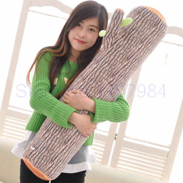 27-90cm tamanho grande dos desenhos animados de madeira brinquedos de pelúcia almofada do bebê travesseiro macio crianças brinquedos criativos presente de aniversário 1 peça travesseiro de árvore