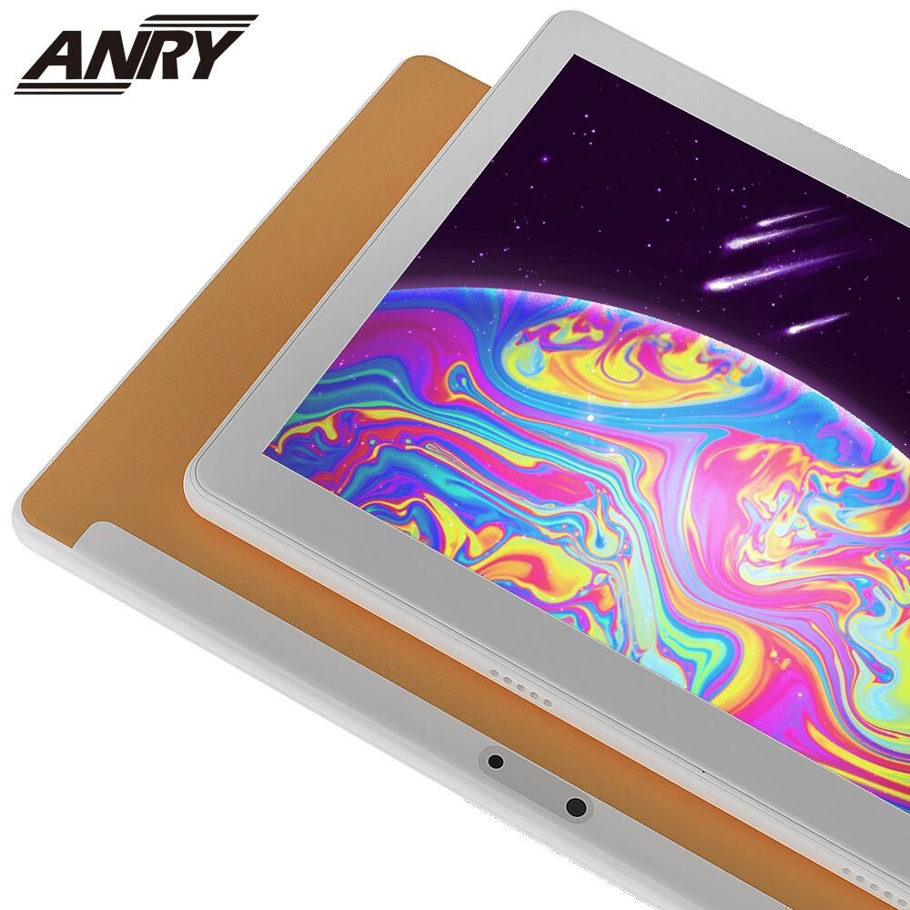 ANRY 10 Inch Tablet 3G Call Google Play Android 7.0 New 2019 Model Bluetooth IPS Screen Quad Core CPU 2+5 MP Camera Tablet PC