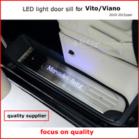 Newest LED Light Door Sill Scuff Plate For VITO VIANO 3doors Or 4doors 2011 2015 Year