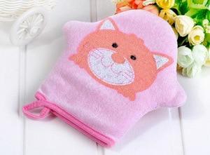 3 цвета, мягкая хлопковая Детская щетка для душа с изображением кота, милая губка для моделирования животных, губка, полотенце, мяч для детей