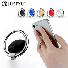 Finger Ring Holder Metal Mount Magnetic Car Phone For iPhone XS Max XR X 8 7 6 plus Desktop Round Stand