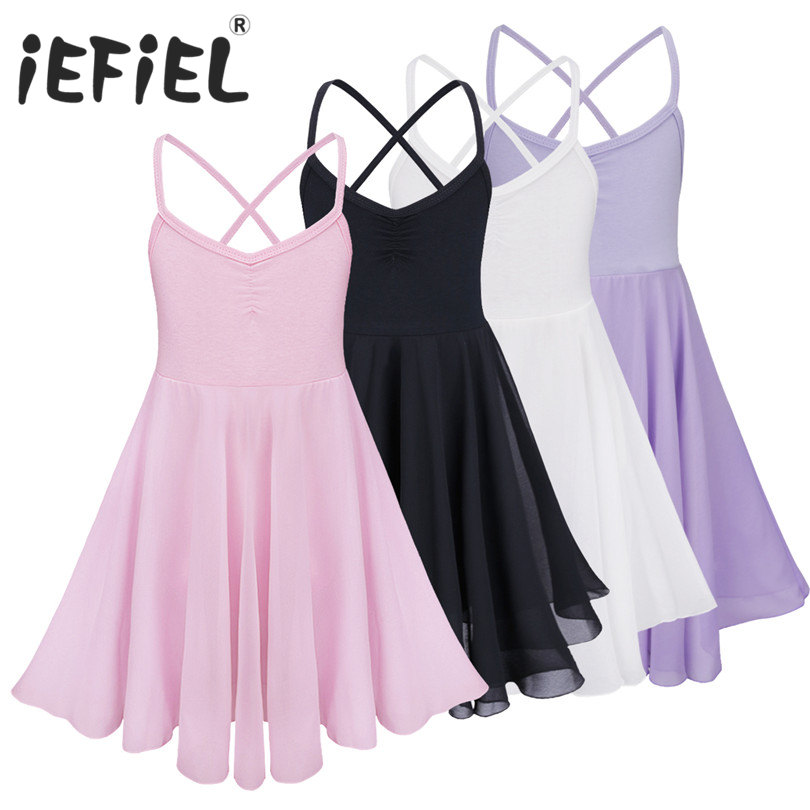 iEFiEL Sleeveless Children Kids Dancing Ballet Tutu Dress Girls Tulle Ballet Dancewear Dress Leotard Ballerina Dancing Clothes(China)