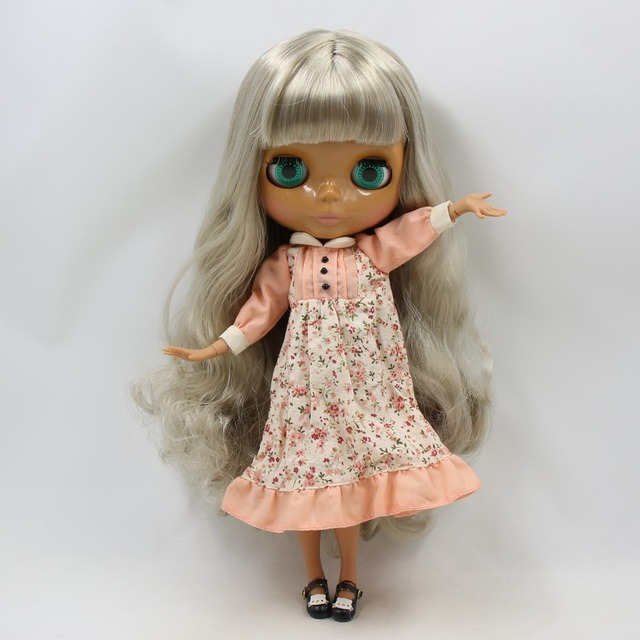 TBL Neo Blythe Doll Grey Silver Blonde Hair Jointed Body