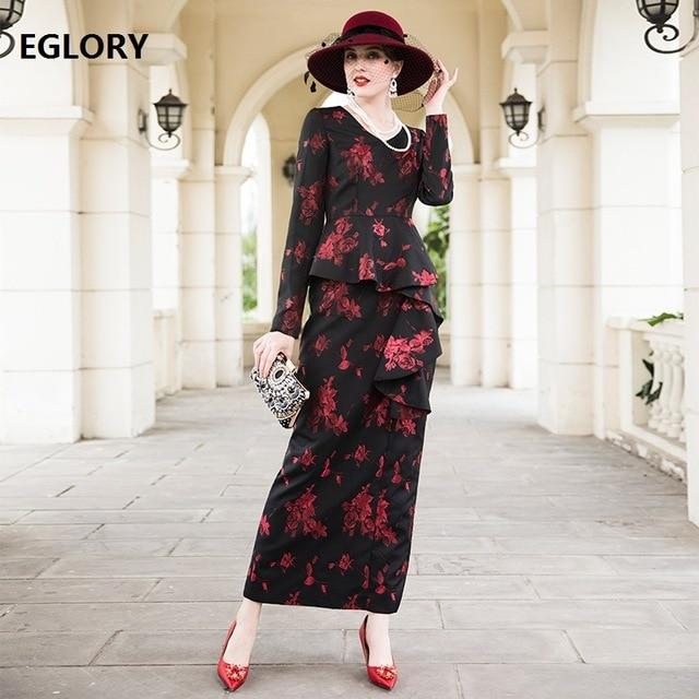 Une pièce robe femmes mode fête 2018 robes Vestidos De Festa dames v-cou Vintage Jacqurd imprimer femme longue robe XXL