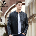Pioneer Camp New autumn winter leather jacket men brand clothing male motorcycle leather jacket top quality leather coat 699109