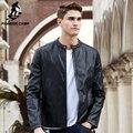 Pioneer camp novas outono inverno jaqueta de couro vestuário masculino jaqueta de couro da motocicleta dos homens da marca de qualidade superior casaco de couro 699109