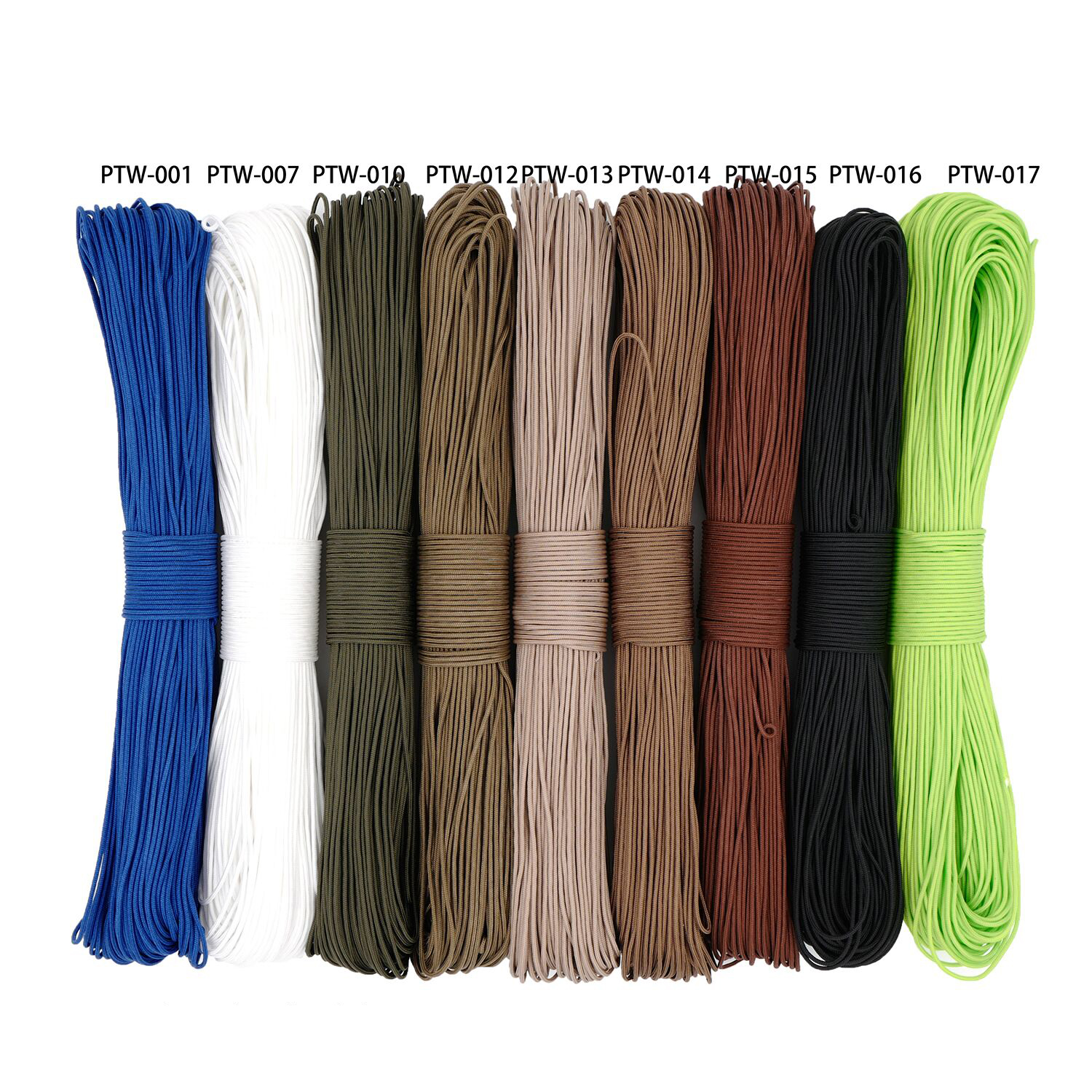 New Mil Spec Type I 3 Strand Core 300 Feet (100m) Outdoor Survival Parachute Cord Lanyard Paracord 2mm Diameter Micro Cord