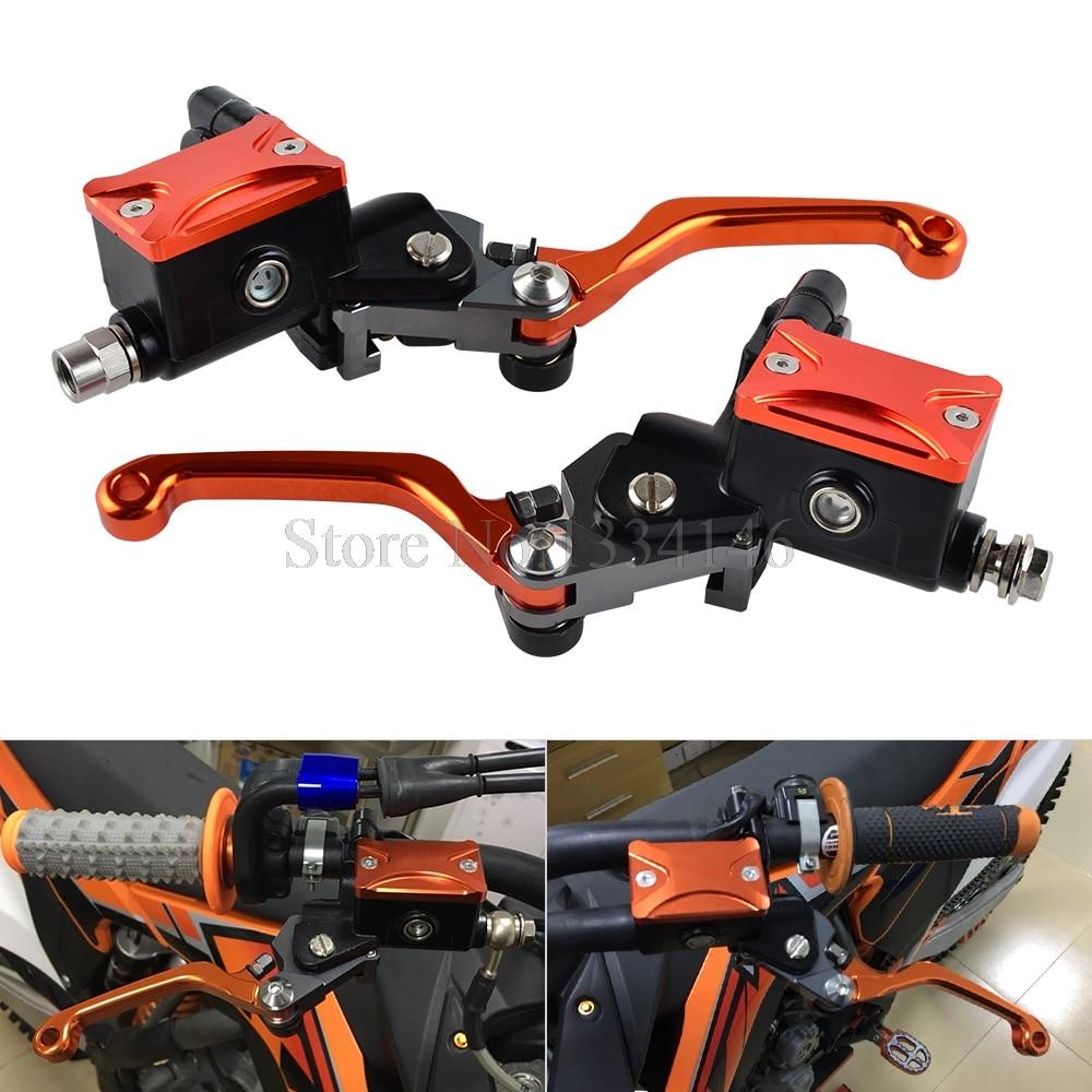 NICECNC 7/8 Hydraulic Brake Clutch Lever Assembly For KTM 65 85 SX 125 150 XCW 200 EXC 250 EXCF SXF XC XCF XCFW 300 350 400 450 4 directions foldable pivot clutch lever for ktm exc excf excr xc xcf xcw xcfw sx sxf days dirt bike motorcycle free shipping