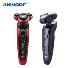 Триммер для бороды ANIMORE мужской 4 в 1, перезаряжаемая бритва 4D электробритва, электробритва для ухода за лицом