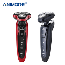 ANIMORE Men's 4D Electric Shaver 4 IN 1 Beard Trimmer Rechargeable Razor for Men