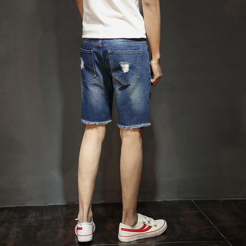 Fashion Mens Ripped Short Jeans Brand shorts men Bermuda Summer Cotton Shorts Breathable Denim Shorts Male korte broek mannen