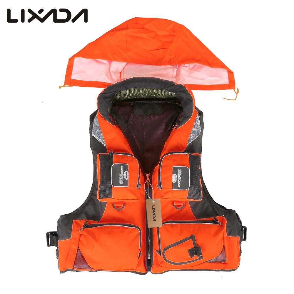 Lixada Fishing Vest Polyester Backpack For Carp Pesca Survival Safety Jacket Fly Fishing Vest Clothes Outdoor Swimming Life Vest High Resilience