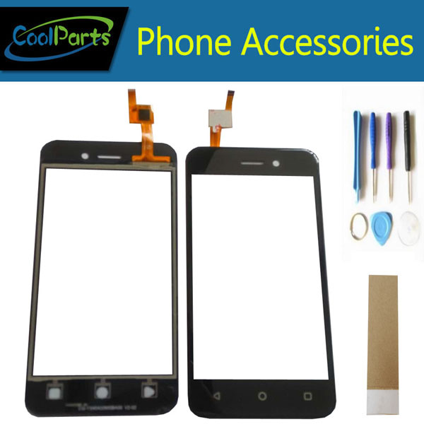 1PC/Lot High Quality For Fly 5S Touch Screen Digitizer Touch Panel Lens Glass Replacement Part With Tool&Tape Black Color