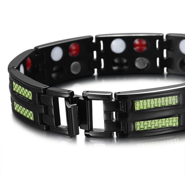 HTB18Y6HCuuSBuNjSsziq6zq8pXaL - Titanium Bracelets 4 Health Elements Germanium Magnetic Bracelets for Arthritis