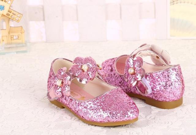 hua01 2019 big kids girls Girls single shoe hot drill dance performance student shoes Z1626